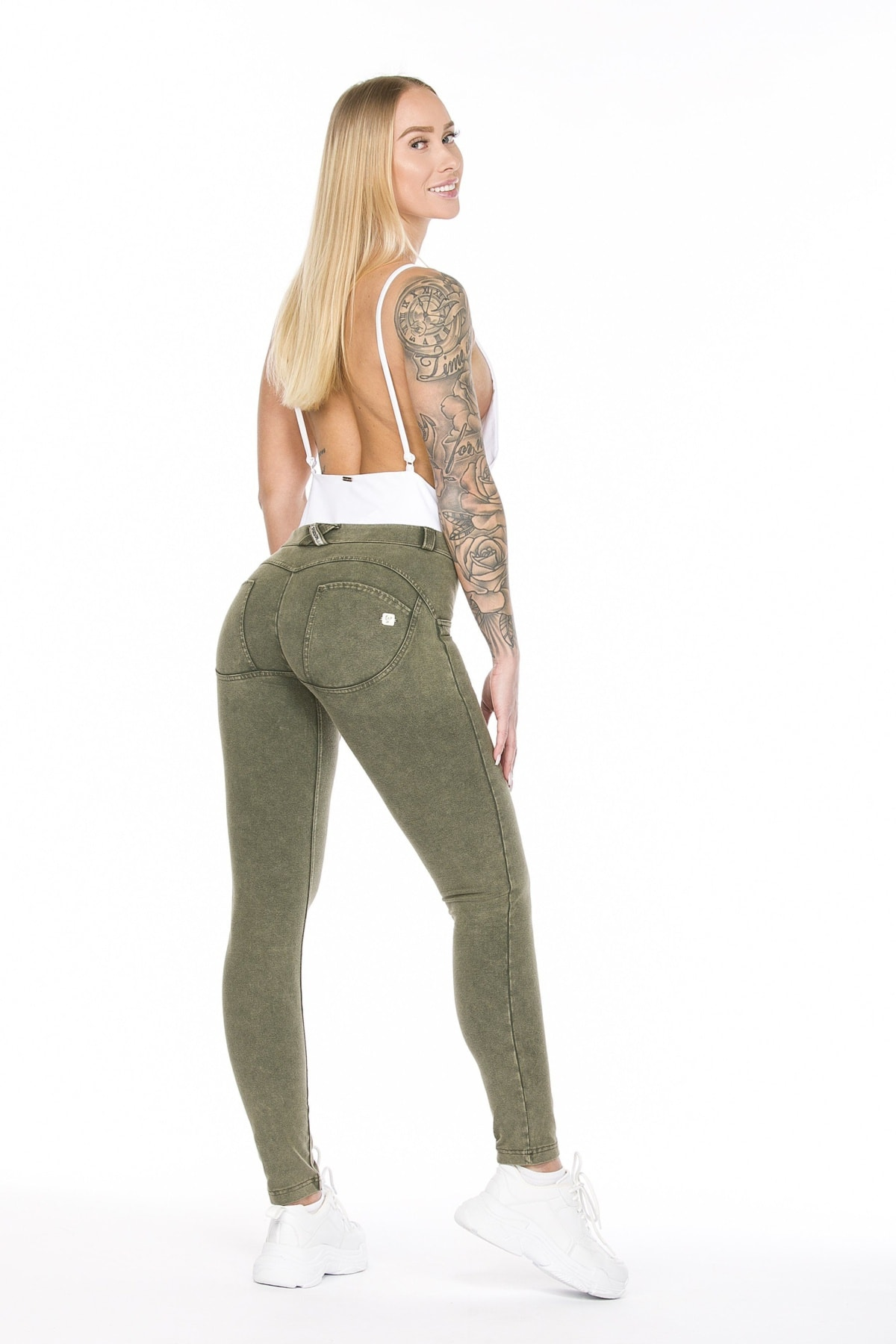 WR.UP® Shaping Pants Skinny Mid Acid Wash Army