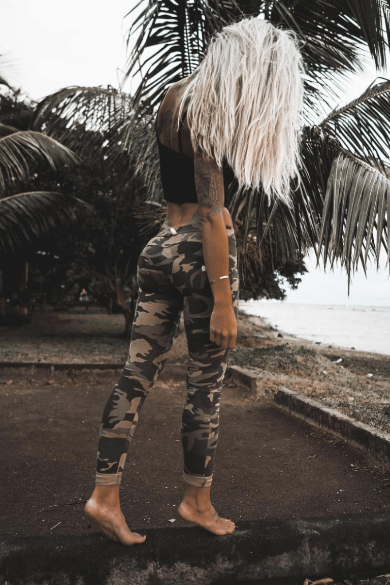 WR.UP® Shaping Pants Skinny Mid Woodland Camo