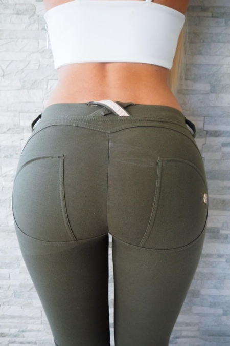WR.UP® Shaping Pants Straight Low Khaki Green