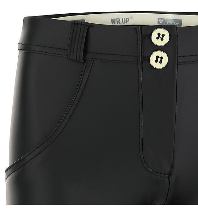 WR.UP® Shaping Pants Super Skinny Mid Vegan Leather Black