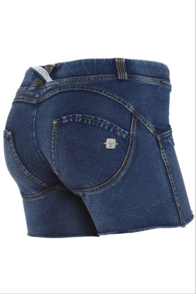 WR.UP® Shaping Shorts Low Dark Blue + Yellow Stitching