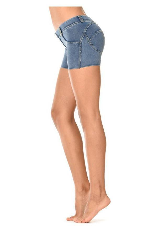 WR.UP® Shaping Shorts Low Light Blue + Yellow Stitching