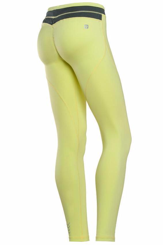 WR.UP® Sport Tights Yellow + Black Waist